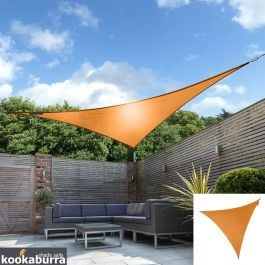 Kookaburra® 3m Triangle Orange Party Sail Shade (Woven - Water Resistant)