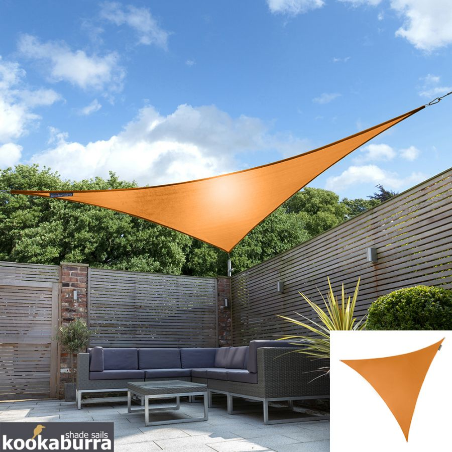 Kookaburra® 5m Triangle Orange Party Sail Shade (Woven - Water Resistant)