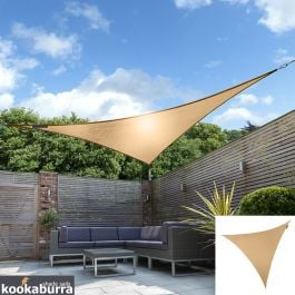 Kookaburra® 3.6m Triangle Peach Waterproof Woven Shade Sail