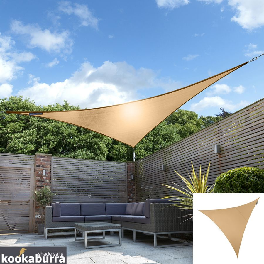 Kookaburra® 3m Triangle Peach Waterproof Woven Shade Sail