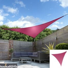 Kookaburra® 5m Triangle Pink Waterproof Woven Shade Sail