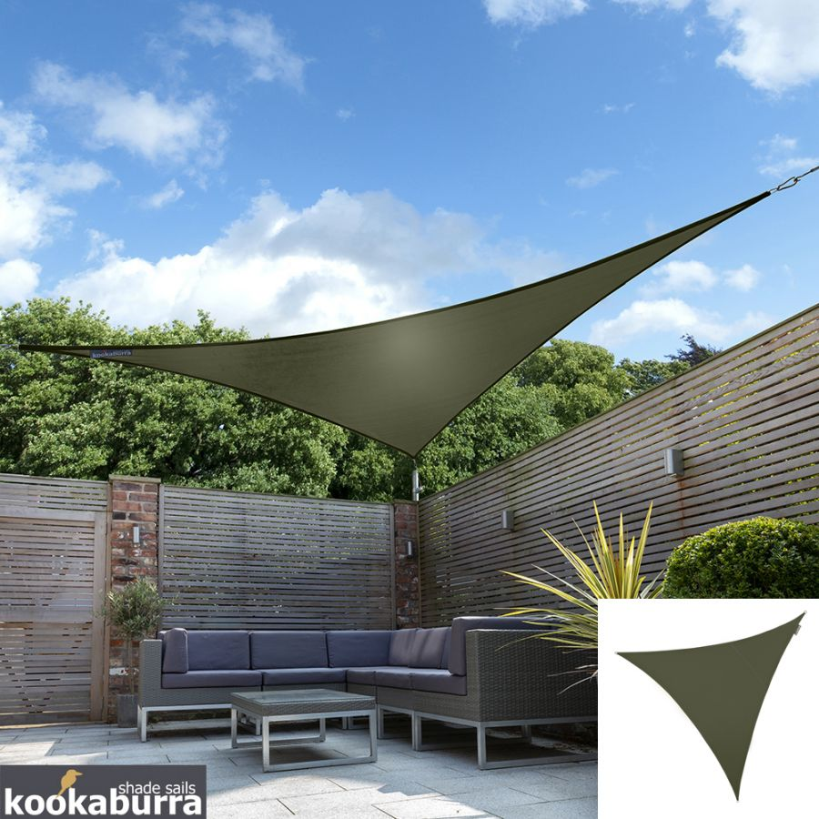 Kookaburra® 3m Triangle Sage Waterproof Woven Shade Sail