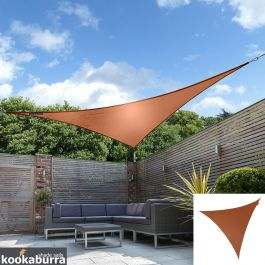 Kookaburra® 2m Triangle Terracotta Waterproof Woven Shade Sail