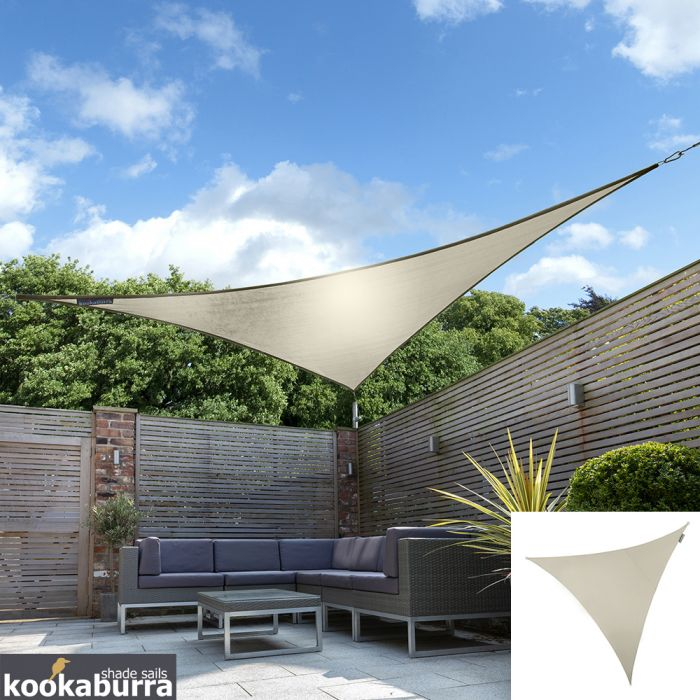 Kookaburra® 3.6m Triangle Ivory Waterproof Woven Shade Sail