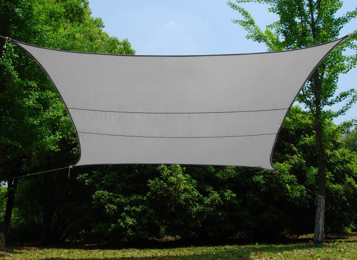 Kookaburra® 5mx4m Rectangle Silver Waterproof Woven Shade Sail