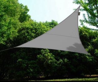 Kookaburra® 5m Triangle Silver Waterproof Woven Shade Sail