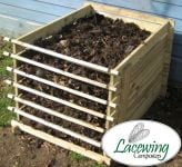 Easy-Load Wooden Compost Bin - Small - 449 Litres - by Lacewing™