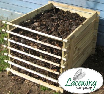 Easy-Load Wooden Compost Bin - Small - 449 Litres - by Lacewing�