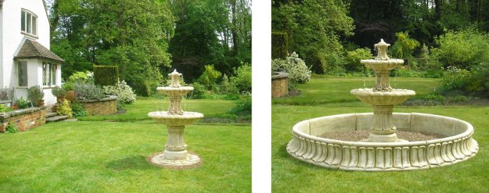 1.2m Classical 2 Tier Stone Fountain by Ambienté™
