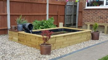 Raised Garden Deck Pond - L1.5m x W1.1m x H65cm