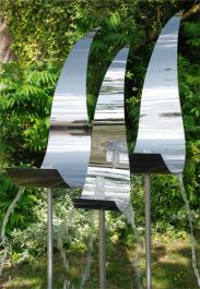 Swan Family Stainless Steel Water Feature by Ambienté™