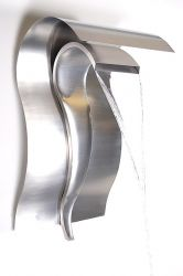 H75cm Cascading Swan Wall Mounted Stainless Steel Water Feature by Ambienté
