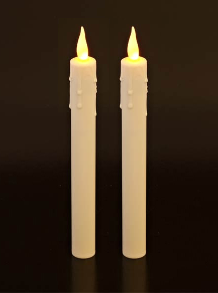 "Electronic 10"" Taper Candles - Set Of Two"