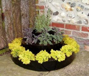 Small Tiered Circular Raised Bed - D70cm