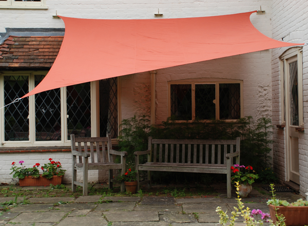 Kookaburra 3mx2m Rectangle Terracotta Waterproof Woven Shade Sail