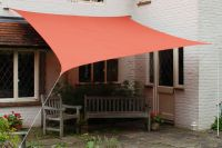 Kookaburra 5.4m Square Terracotta Waterproof Woven Shade Sail