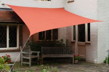 Kookaburra® 3m Square Terracotta Waterproof Woven Shade Sail