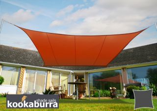 Kookaburra® 2m Square Terracotta Waterproof Woven Shade Sail