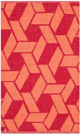 Durston Textured Outdoor Area Rug Orange (121 X 182 cm)