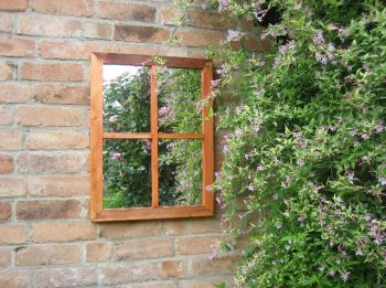 2ft 1in x 1ft 6in Victorian Window Garden Illusion Mirror