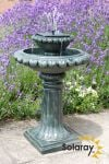 Victoriana Solar Bird Bath Water Feature with Lights (H79cm) by Solaray™