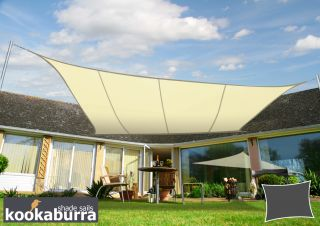 Kookaburra® 3mx2m Rectangle Ivory Breathable Shade Sail (Knitted)