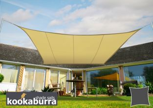 Kookaburra® 2m Square Sand Waterproof Woven Shade Sail