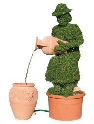 Topiary Water Feature - Sitting Mrs Jones