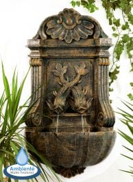 H86cm Verdi Aged Verdigris Wall Fountain by Ambienté