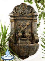 86cm Verdi Wall Fountain in Aged Verdigris by Ambienté™