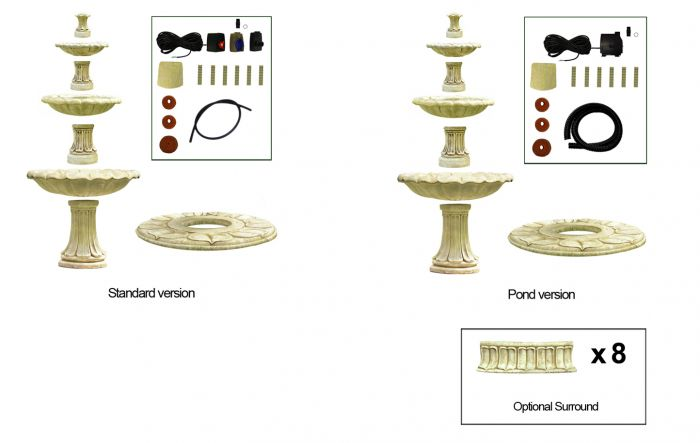 2m 3 Tier Classical Stone Fountain