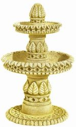 Leaf Tiered Fountain 2 Tier