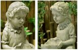 Girl Water Feature with LED Light - H42cm