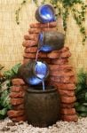 Regal 4-Tier Oil Jar Water Feature with Lights by Ambient� - H119cm