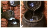 Regal 4-Tier Oil Jar Water Feature with Lights by Ambienté - H119cm