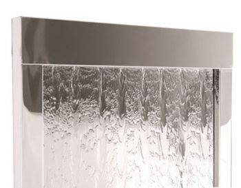 1.73m Giant Brushed Stainless Steel Water Wall Cascade by Ambienté™
