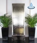 "5ft 6"" / 1.73m Giant Brushed Stainless Steel Water Wall Cascade by Ambient�"
