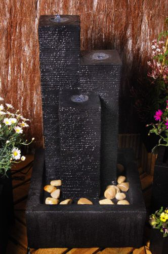 H92cm Cassia 3-Column Water Feature with Lights by Ambienté™