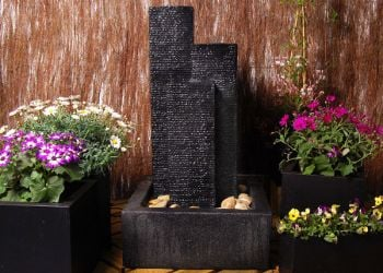 Cassia 3-Column Water Feature with Lights - H92cm