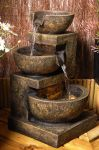 El Paco 3-Tier Bowl Cascade Water Feature with Lights