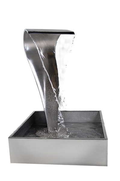 Swan Falls Stainless Steel Water Feature