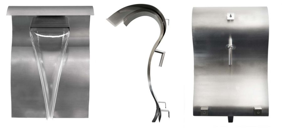Wall Mounted Stainless Steel Cascading Swan Water Feature by Ambienté™