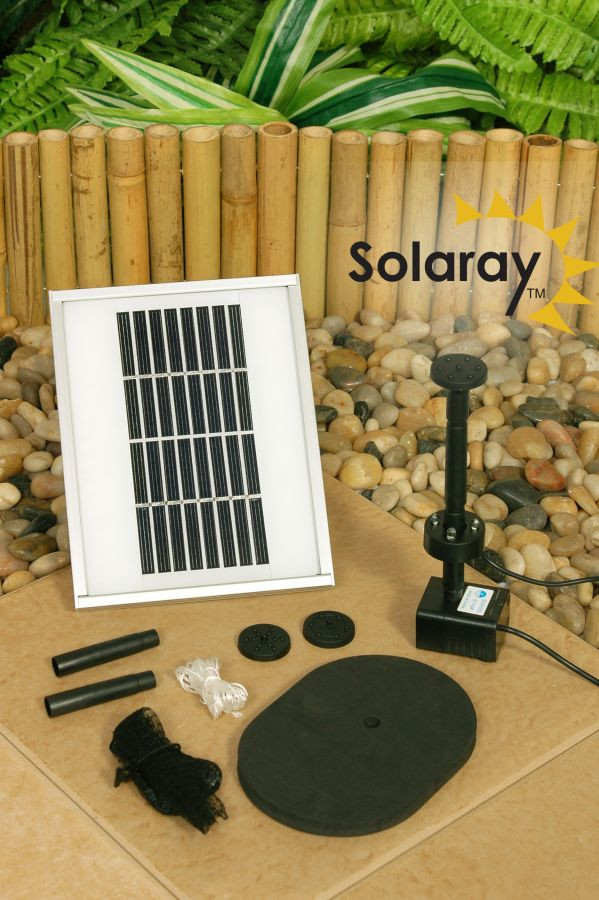 200LPH Solar Water Pump Kit with LEDs and Battery Backup from Solaray™