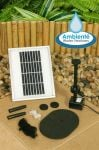 200LPH Solar Water Pump Kit with LEDs and Battery Backup from Ambient�