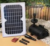800LPH Solar Water Pump Kit with LED lights by Ambient� Remote Controlled