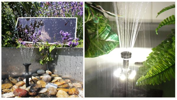 Solar Water Pump Kit 300lph With Bright White Led Lights