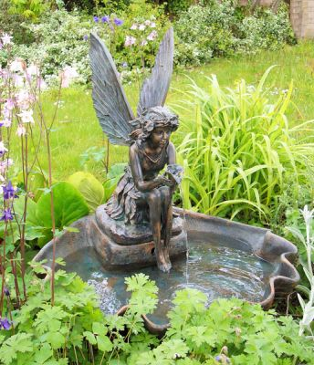 78cm Fairy on a Clam Shell Water Feature by Ambient�