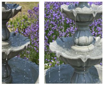 Stone Effect Regal 3 Tier Fountain by Ambienté