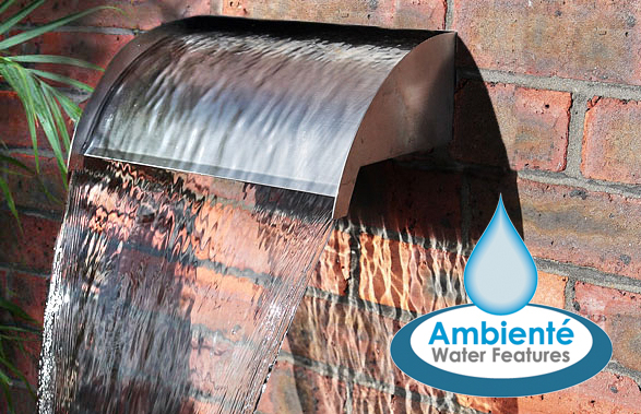 30cm Victoria Falls Stainless Steel Rear Supply Waterfall Blade Cascade (Sheer descent) by Ambienté™