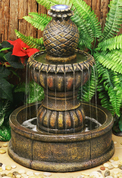 Tupi Pineapple 2-Tier Water Fountain